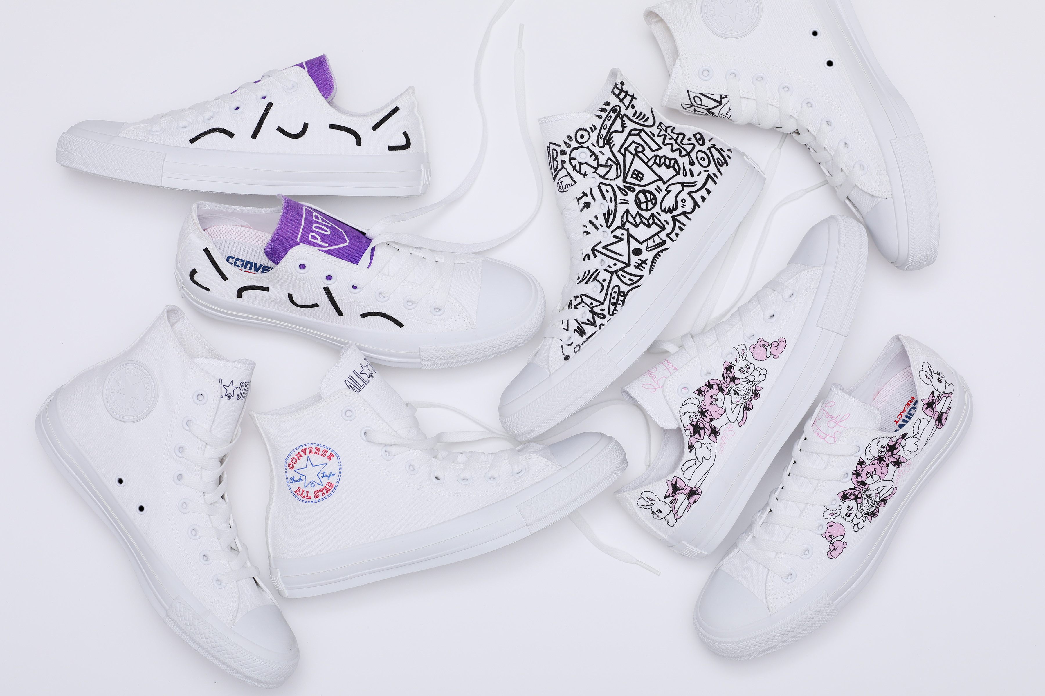 """White atelier BY CONVERSE""のデザインに、新たなアーティストが登場!"